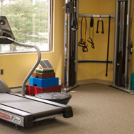 Functional Trainer and treadmill